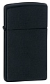 SKU-1618  SLIM BLACK MATTE ZIPPO LIGHTER