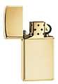 SKU-1654B  SLIM HIGH POLISH BRASS ZIPPO LIGHTER
