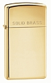 SKU-1654  HIGH POLISH BRASS W/SOLID BRASS ENGRAVED ZIPPO LIGHTER