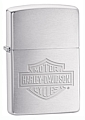 SKU-200HDH199  HARLEY-DAVIDSON LOGO BRUSHED CHROME ZIPPO LIGHTER