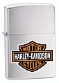 SKU-200HDH252  HARLEY-DAVIDSON LOGO BRUSHED CHROME ZIPPO LIGHTER