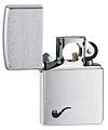 SKU-200PL  PIPE LIGHTER BRUSHED CHROME ZIPPO LIGHTER