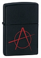 SKU-20842  ANARCHY BLACK MATTE ZIPPO LIGHTER