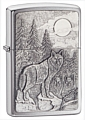 SKU-20855  TIMBERWOLVES EMBLEM BRUSHED CHROME ZIPPO LIGHTER (RETAIL PRICE IS $36.95)