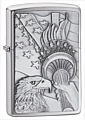 SKU-20895  SOMETHING PATRIOTIC EMBLEM BRUSHED CHROME ZIPPO LIGHTER