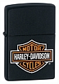 SKU-218HDH252  HARLEY-DAVIDSON LOGO BLACK MATTE ZIPPO LIGHTER (RETAIL PRICE IS $29.95)