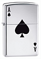 SKU-24011  LUCKY ACE HIGH POLISH CHROME ZIPPO LIGHTER