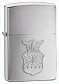 SKU-280AFC  AIR FORCE CREST EMBLEM BRUSHED CHROME ZIPPO LIGHTER (RETAIL PRICE IS $24.95)