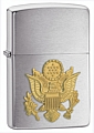 SKU-280ARM  ARMY EMBLEM BRUSHED CHROME ZIPPO LIGHTER (RETAIL PRICE IS $24.95)