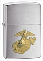 SKU-280MAR  MARINES EMBLEM BRUSHED CHROME ZIPPO LIGHTER (RETAIL PRICE IS $24.95)