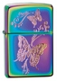 SKU-28442 SPECTRUM FINISH ENGRAVED BUTTERFLIES ZIPPO LIGHTER (RETAIL PRICE IS $31.95)