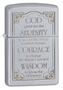 SKU-28458 SERENITY PRAYER SATIN CHROME ZIPPO LIGHTER