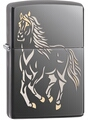 SKU-28645 BLACK ICE HORSE ZIPPO LIGHTER (RETAIL PRICE IS $31.95)