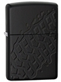 SKU-28966 DEEP CARVED TIRE TREAD ARMOR BLACK MATTE ZIPPO