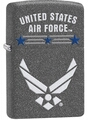 SKU-29121 UNITED STATES AIR FORCE IRON STONE ZIPPO LIGHTER (RETAIL PRICE IS $29.95)