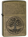 SKU-29149 ANTIQUE BRASS TREE OF LIFE ZIPPO LIGHTER
