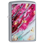 SKU-29875 RUST PATINA STREET CHROME DESIGN ZIPPO LIGHTER