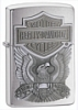 SKU-200HDH284  H-D MADE IN USA EMBLEM BRUSHED CHROME ZIPPO LIGHTER