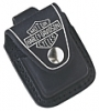 SKU-HDPBK ZIPPO  HARLEY DAVIDSON LIGHTER POUCH WITH LOOP BLACK