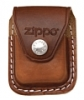 SKU-LPCB  LIGHTER POUCH WITH CLIP BROWN ZIPPO LIGHTER