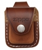 SKU-LPLB  LIGHTER POUCH WITH LOOP BROWN ZIPPO LIGHTER