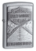 SKU-20229  H-D AMERICAN LEGEND EMBLEM STREET CHROME ZIPPO LIGHTER