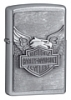 SKU-20230  H-D IRON EAGLE EMBLEM STREET CHROME ZIPPO LIGHTER